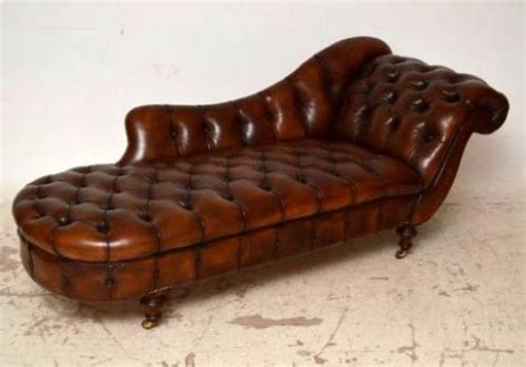 leather chaise longue uk antique buttoned leather chaise longue