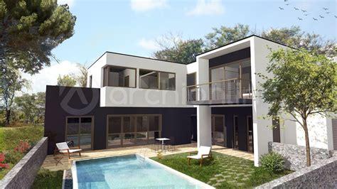 maison 4 chambres plan maison moderne 2 etages 100m2 4 chambres maison moderne