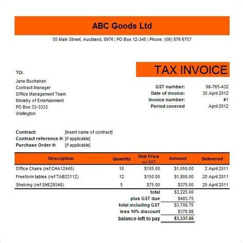 ato tax invoice template invoice