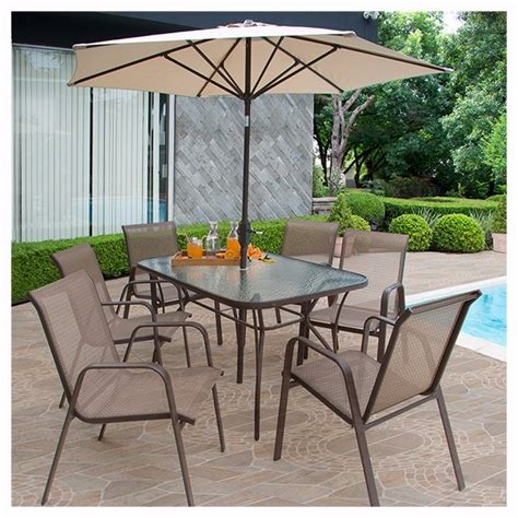 oferta juego de jardin monaco mesa sillas  paraguas