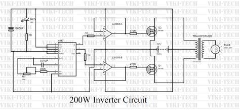 How Make Watt Inverter Electronic Circuits