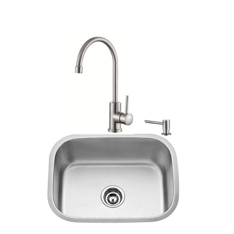 home depot kitchen sink accessories kraus all in one undermount stainless steel 23 in single