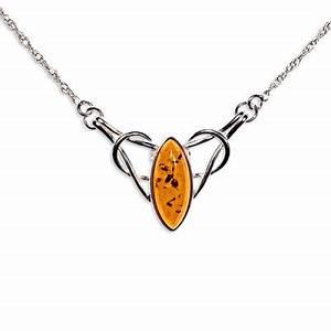 Collier ambre et argent armor for Bijoux ambre