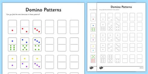 year  domino patterns worksheet worksheet worksheet
