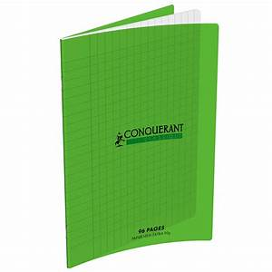conquerant cahier 96 pages 17 x 22 cm seyes grands With cahier grand carreaux
