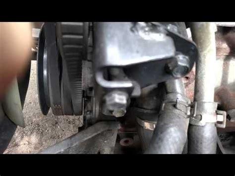 isuzu npr belt squeal noise air conditioner youtube