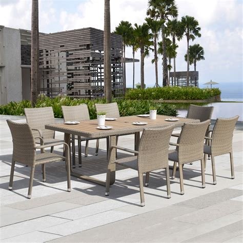 lowes canada outdoor dining sets starsong ds010 ashena 9 outdoor dining set lowe s