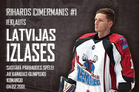 Cimermanis Latvijas izlasē pret Kanādu | Hokeja klubs ...