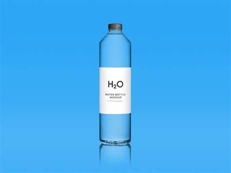 — clear plastic bottle mockup. Blue Clean Water Bottle Free Mockup - DesignHooks