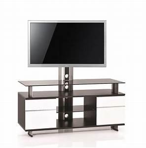 Meuble Salon Noir : meuble tv design noir blanc 140 cm gld 140h sbw premium mobuler ~ Teatrodelosmanantiales.com Idées de Décoration