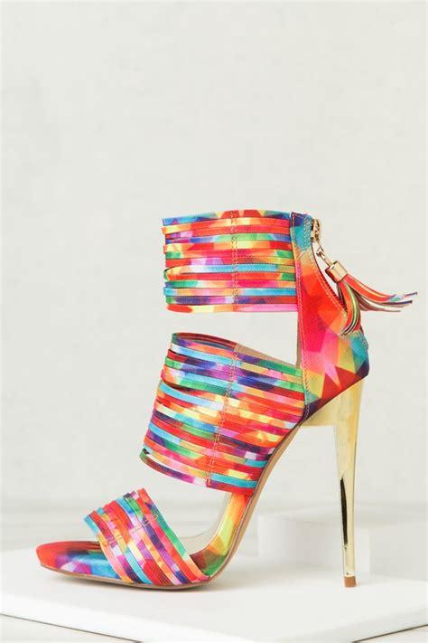 multi color strappy heels multi color strappy heels mad heel