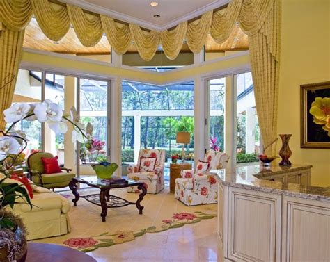 traditional living room   beautiful tropical setting