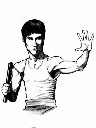 Bruce Lee Deviantart Coloring Pino44io Sketch Template