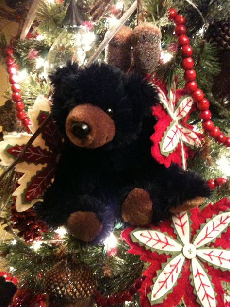 pin  black bear christmas