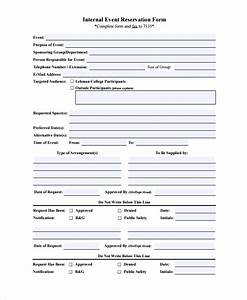 10 sample reservation forms sample templates for Event booking form template word