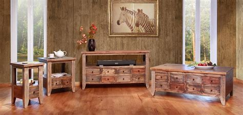 ifd furniture  antique multi drawer rustic coffee
