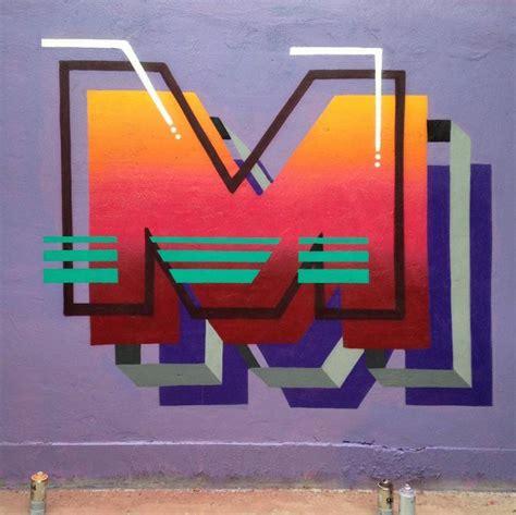 colorful 3d typography mural fubiz media