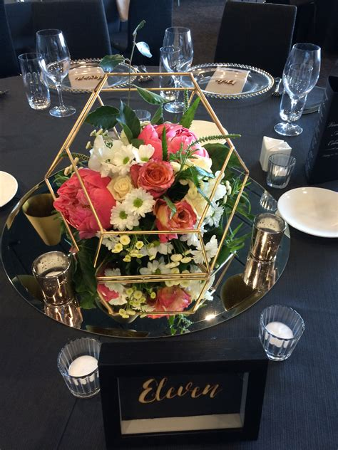 geometric table centerpiece designer planner stylist