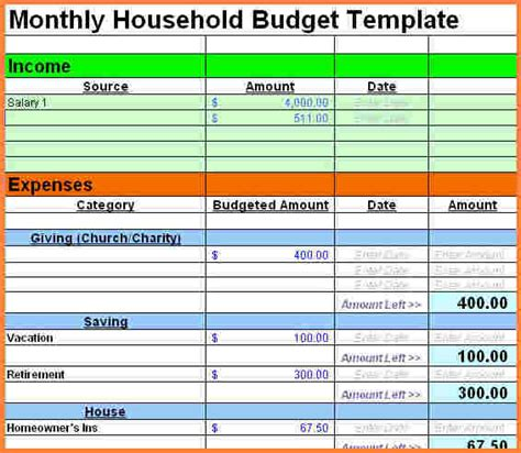 sample personal budget spreadsheet excel spreadsheets