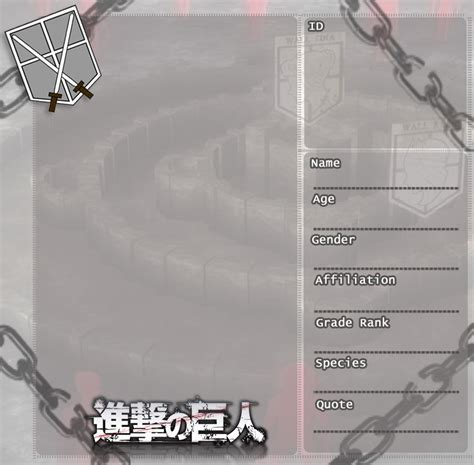 attack  titan oc template   character sheet