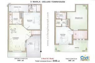 3 marla delux floorplan civil engineers pk