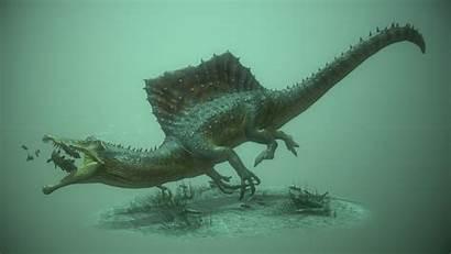 Spinosaurus Bear Artstation Aegyptiacus Dinosaur James Underwater
