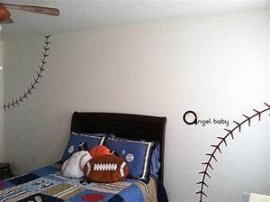 nursery baseball stitch lines home house art decals wall With nice baseball stitches wall decal