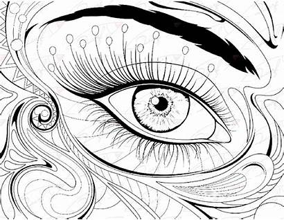 Coloring Eye Pages Printable Eyes Eyeball London