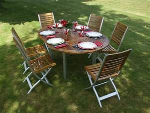beautiful renover un salon de jardin en acacia pictures With repeindre un salon de jardin en pvc