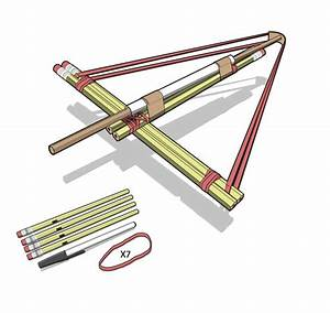How To Build A Pencil Crossbow  Mini Weapons Of Mass