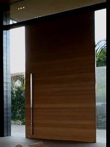 Pivot Front Door - Non-warping patented honeycomb panels