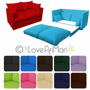 Fold out 2 seater kids teens sofa sofabed guest bed futon for Sofa bed for teenager
