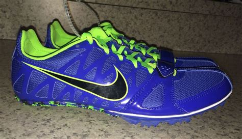 New Mens Nike Zoom Rival S 6 Blue Lime Green Sprint Track