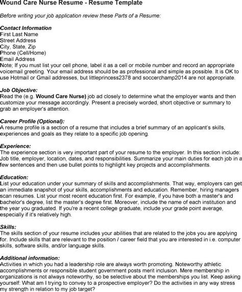 Wound Care Resume Sle by Pin By Brandi Fowler On Wounds Nursing Resume Nursing