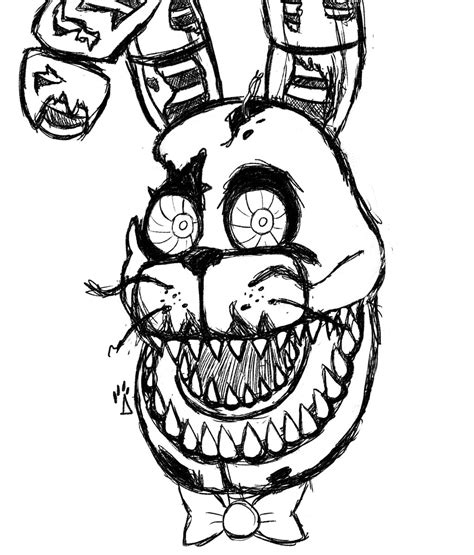 Nightmare Bonnie Rough Drawing By Springaling On Deviantart