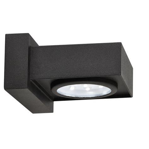 2650bk led black outdoor wall light