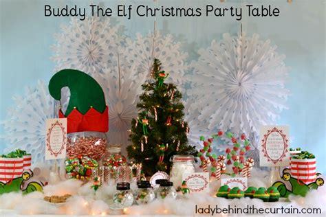 buddy  elf christmas party table