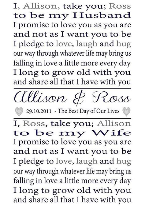 wedding vows personalised wedding vows print by lisa marie designs notonthehighstreet com