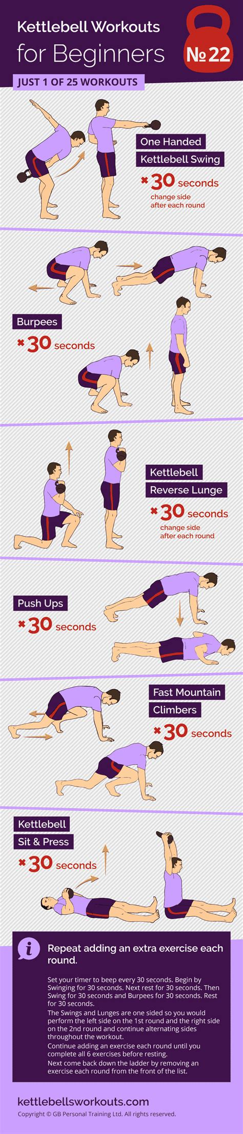 kettlebell workout ladder single movement sided workouts reverse