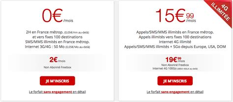 Free Mobile by Forfaits Free Mobile La Gamme De Forfaits Sans