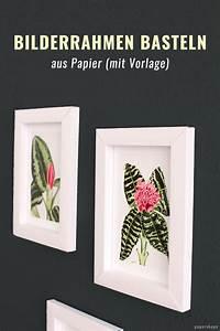 Bilderrahmen Basteln Pappe : bilderrahmen papershape ~ Frokenaadalensverden.com Haus und Dekorationen