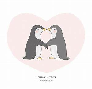 Cute penguins kissing - this penguin couple is a my ...
