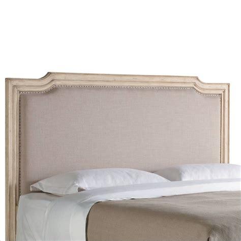 Vintage White Headboard by Stanley Furniture European Cottage Upholstered King