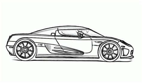 koenigsegg car drawing koenigsegg ccx super fast car coloring page free online