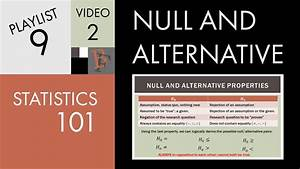 Statistics 101 Null And Alternative Hypotheses Youtube