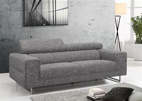 canap tissus gris canapé 3 places tissu design gris avec dossiers hauts gris