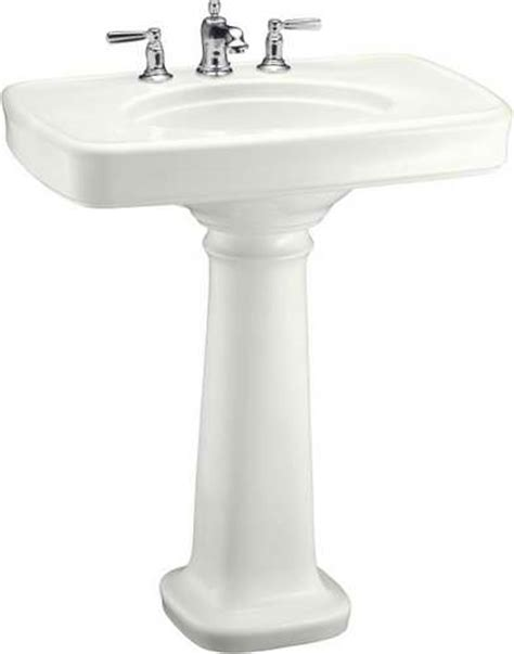 Kohler Bancroft Pedestal Sink by So I Turned My Sights To New Sinks That A Retro Look
