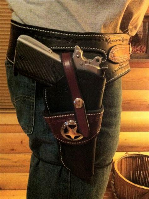 western leather gun holster belt  semi auto custom built   ebay