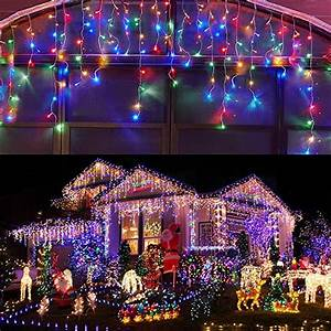Led, Icicle, Lights, Outdoor, Christmas, Decorations, Lights, 400led, 8, Modes, Icicle, Christmas, Lights