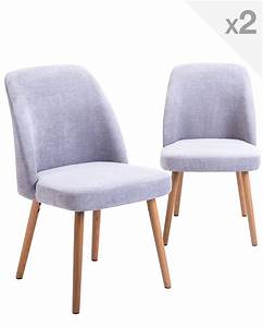 But Chaise Scandinave : lot de 2 chaises scandinave pi tement ch ne dima ~ Teatrodelosmanantiales.com Idées de Décoration